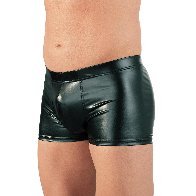 Svenjoyment Herren Pants aus Wetlook mit integrierten Penisring - Schwarz Größe M