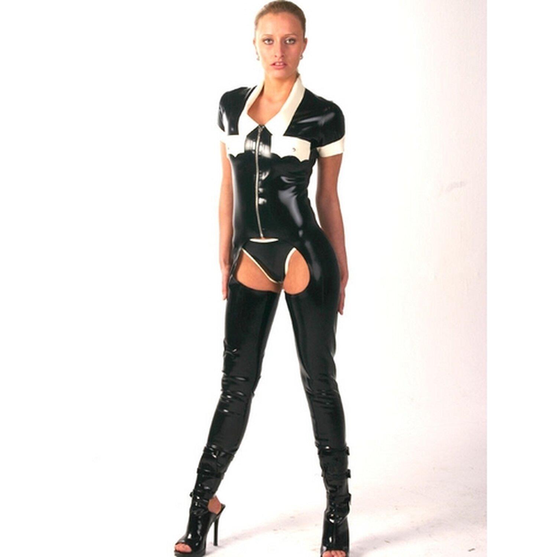 Latex Damen Chaps Suit