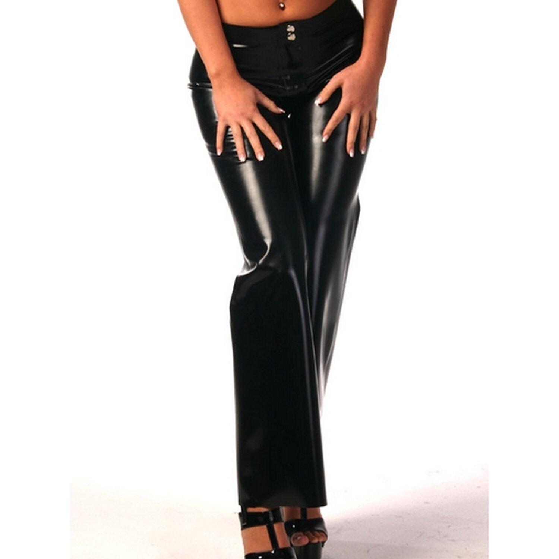 latex damen jeans mit schlag. Black Bedroom Furniture Sets. Home Design Ideas