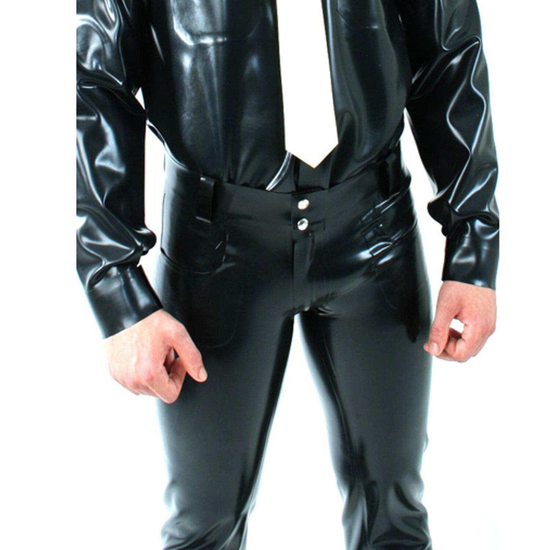 Sweet Sin Latex-Edition Latex Herren Jeans »Saddle« - Latexstärke 0,60 mm Größe M
