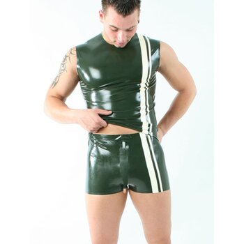 Latex Herren Short »Stripes« -...