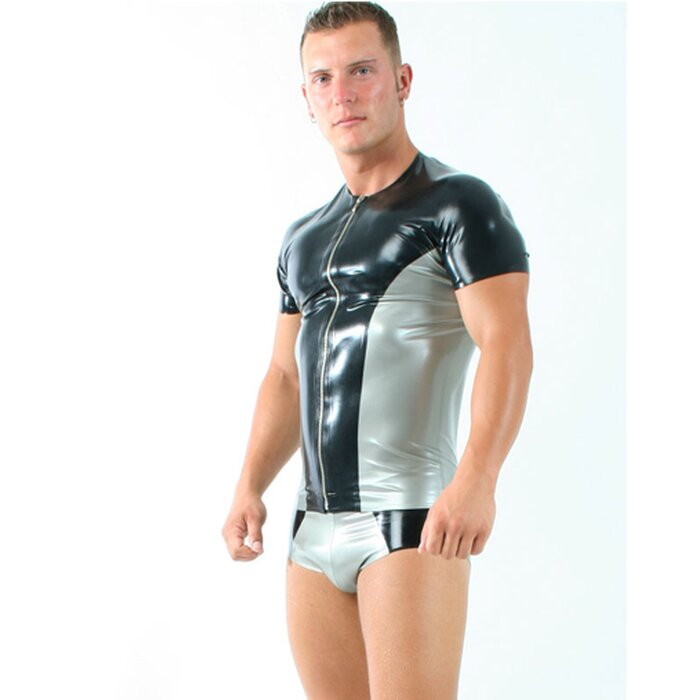 Latex Herren T-Shirt »two colour«