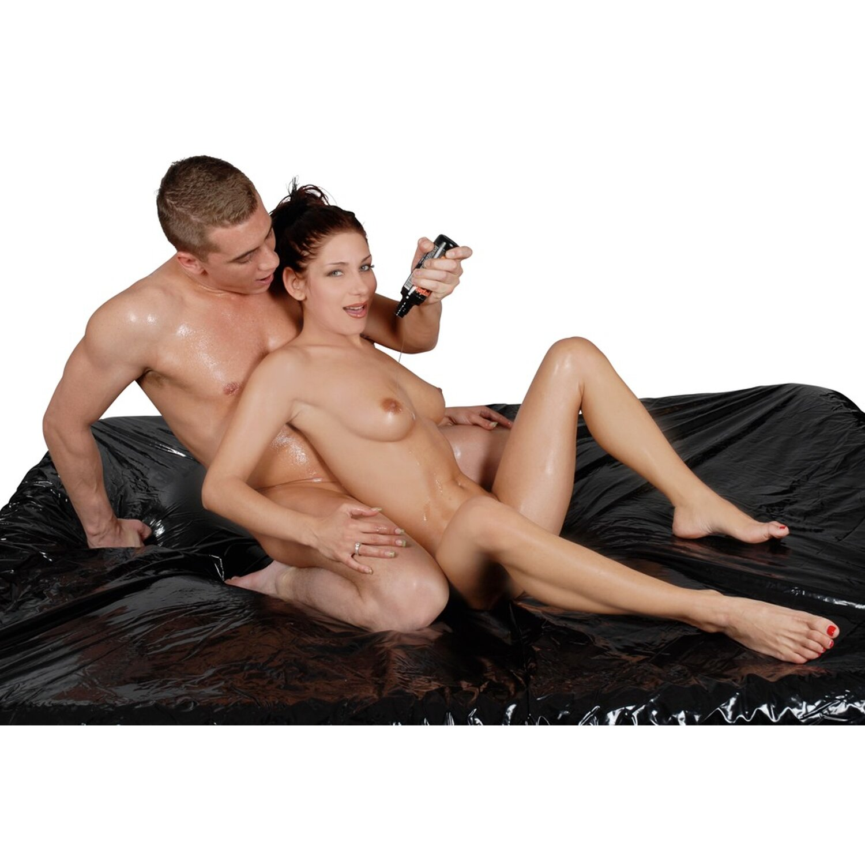 Orgy Lack Spannbett-Laken - 220 x 220 cm - Schwarz