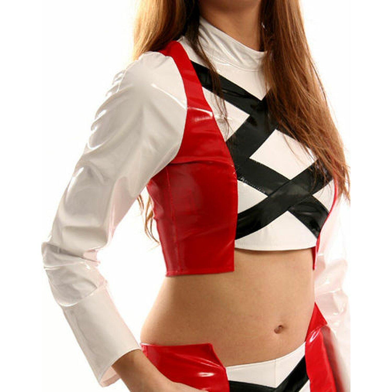 Sweet-Sin® - Lack Shirt 2-farbig mit X-Streifen...