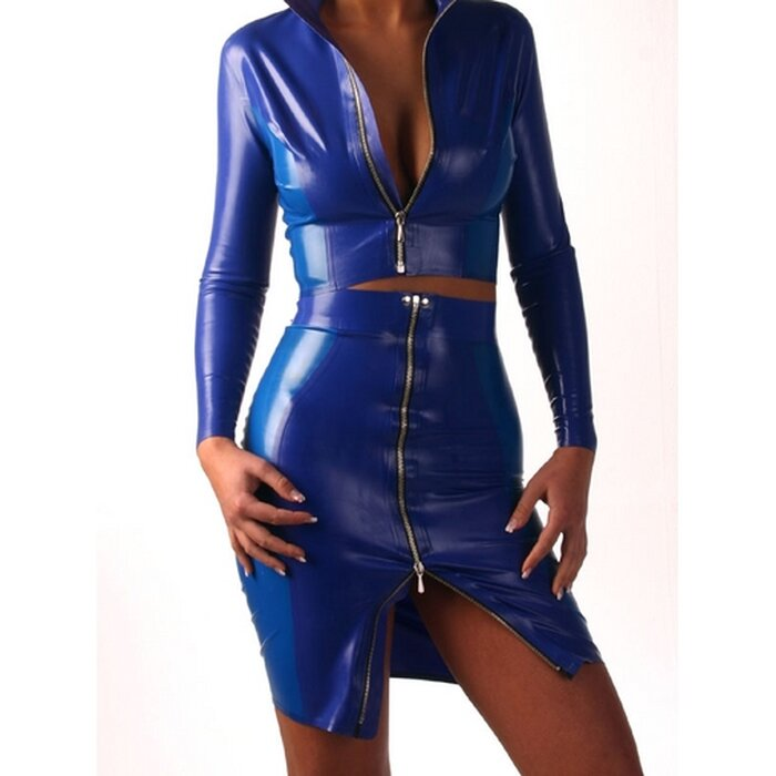 Latex Damen Rock »two colour«