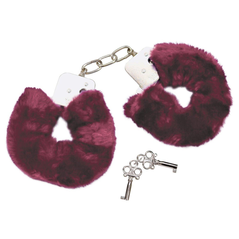 Bad Kitty Handschellen mit Plüsch - Lila