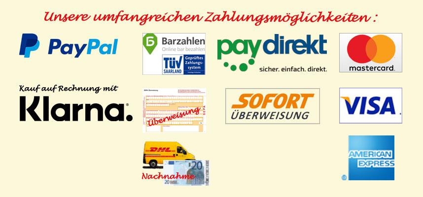 Infos zu den Zahlungsmöglichkeiten