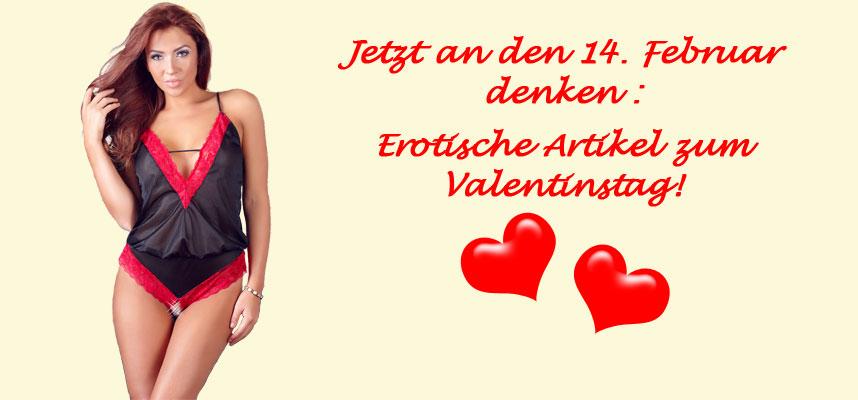 Erotische Artikel zum Valentinstag!